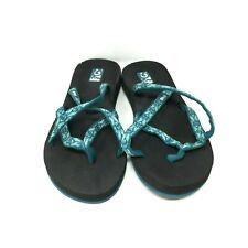 Teva Women's Mush Olowahu Flip-Flop Open Toes Heel Multicolored Green Size: 6 US