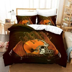Cleveland Browns 3Pcs Duvet Cover Pillowcases All Size Bedding Comforter Cover