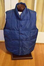 Land's End Puffy Goose Down Vest Men's / Unisex Size Large Blue