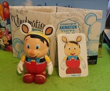 "Disney Vinylmation 3"" Park Set 1 Animation Pinocchio with Card & Box"