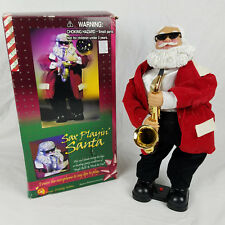 Vtg Gemmy Sax Playing Santa Claus *SEE VIDEO* Christmas Music Dancing Figure