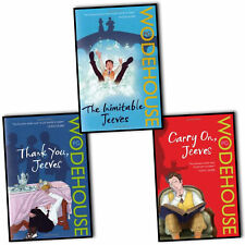P G Wodehouse 3 Books Collection Set-Carry on, Thank you, The Inimitable Jeeves