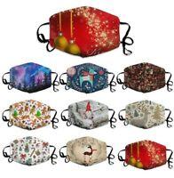 Unisex Weihnachten Mund Maske Wiederverwendbare Maske Stoffmaske Waschbar