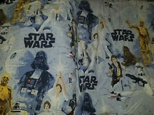 POTTERY BARN KIDS Star Wars QUEEN Sheets - Fitted Sheet & Flat Sheet