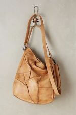 "ANTHROPOLOGIE Day & Mood ""Columbia Lavelle"" Tan Patchwork Leather Hobo Bag Purse"