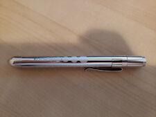 Medical Pen Light Flashlight  Doctor Nurse EMT Silver - Fast Shipped From USA