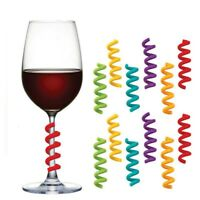 Silicone Wine Cup Accessories Spiral Identify Signs Labels Wine Glass Markers r