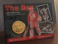2008 100th ANNIVERSARY SIR DON BRADMAN'S BIRTH $5 RAM DECIMAL UNCIRCULATED COIN