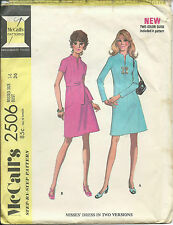 "M 2506 sewing pattern DRESS with raised neck vintage ""Mad Men"" sew Retro Chic 14"