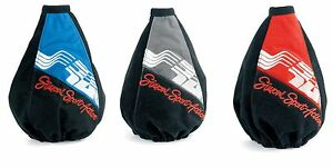 Shift Boot Universal Microfiber By Simoni Racing Blue, Red And Grey c6112