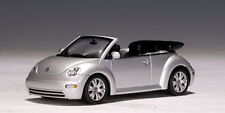 AutoArt 1/43 VW New Beetle Cabriolet - Reflex Silver Metallic DieCast Car #59758