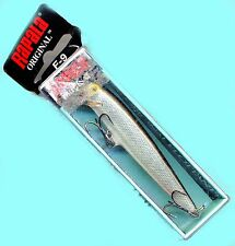"Vintage (Ireland) Rapala Silver Floating 3.5"" Balsa Fishing Lure (F09 S)"