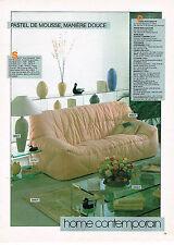 PUBLICITE ADVERTISING 034   1983   ROCHE BOBOIS    canapé HOME CONTEMPORAIN