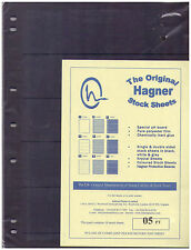 Original Hagner Stock Sheets - 5 Strip Single Sided - Pack of 10