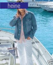 NEU: LÄSSIGES STREIFEN HEMD LANGARM aqua blau-grün-weiss GR. 37/38 HEINE *111715