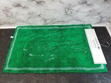 LACOSTE Green TOWEL Legend BATH MAT Alligator COTTON Green New 20X32