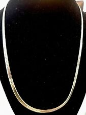Chapado en Oro Amarillo 18K IP Soga Cadena Collar de hombre enlace