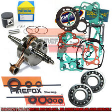 Kawasaki KX100 1998-2000 52.46mm Mitaka Engine Rebuild Kit Crank Piston Gaskets