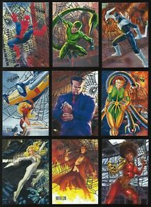 2017 Fleer Ultra Spider-Man Silver Web Foil You Pick the Card Finish Your Set