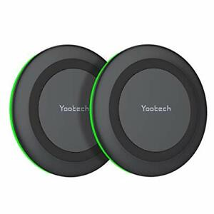 Yootech [2 Pack] Wireless Charger,Qi-Certified 10W Max Fast Wireless...