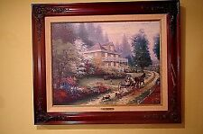 THOMAS KINKADE SUNDAY AT APPLE HILL REPRODUCTION CLASSICS COLLECTION  W/COA