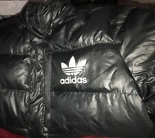 MENS ADIDAs PUFFER JACKET COAT WARM BLACK