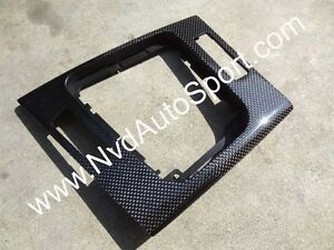 BMW E46 and E46 M3 Carbon Fiber Center Gear Console Panel from NVD