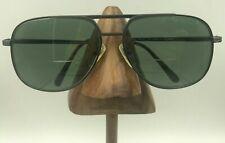 Vintage Oleg Cassini Oc233 Gunmetal Titanium Square Aviator Sunglasses Frames