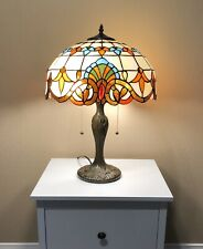 Enjoy Tiffany Table Lamp,W16 Inch Stained Glass Lamp Shade  W16H22 Inch ET0163