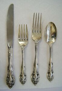 4 Piece Set of Gorham LA SCALA Sterling Silver Place Setting Flatware B2421