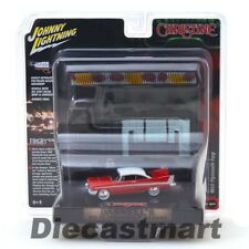 Johnny Lightning 1 64 Christine 1958 Plymouth Fury W Garage Resin Facade Jlsp032