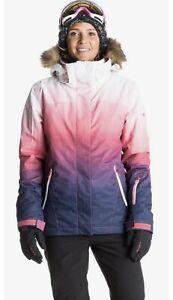 Women's Roxy Jet Ski Gradient Ombre Snow Jacket Coat size XL Brand New NWT