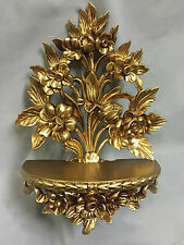 Console muro Barocco Oro /Staffe specchio/Mensola muro /Deco H35 Fiori cp82
