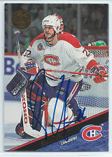 Benoit Brunet signed 1993-94 Leaf hockey card Montreal Canadiens autograph #363
