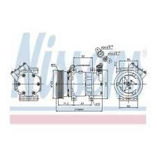 Fits Nissan Kubistar 1.2 16V Genuine OE Quality Nissens A/C Air Con Compressor