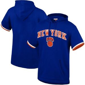 Mitchell & Ness NBA Youth Boys New York Knicks Short Sleeve French Terry Hoodie