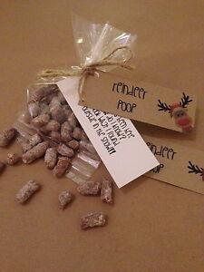 Reindeer poo vintage/ rustic christmas stocking filler chocolate sweet