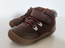 Stride Rite 360 Boys Chandler Ankle Boots Size 5 Toddler Faux Fur Booties Brown
