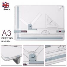 A3 Drawing Board Table Set With Magnetic Clamping Bar Office Engineer Draw Tool