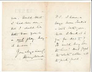 Sir Henry Norman -1891 ltr to Florence Farr/Emery playing in Ibsen's Rosmersholm