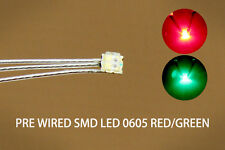 DT0605RG 20pc Pre-soldered litz wired leads Bi-color RED/GREEN SMD Led 0605 DUAL