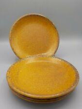 "4 Vintage McCoy 7.5"" Mesa Canyon Brown Stoneware Side Salad Plates"