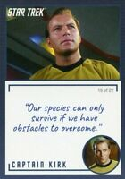 Star Trek TOS Archives & Inscriptions card 1 Captain Kirk Variation 19 out of 22