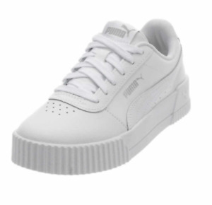 New PUMA Women's Platform Tennis Shoes White Leather and Polyu Sneakers PICK SZ