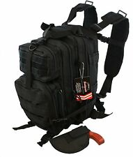 Waterproof Concealed Carry Tactical Assault Molle Backpack w/ Holster CCW Bag