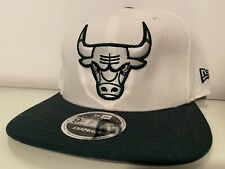 New Era snapback 9fifty Cap. Chicago Bulls White/Black/Silver. New. Reflective