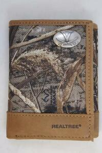 ZEP PRO Virginia Cavaliers Realtree Max-5 Camo  Trifold Wallet Tin Gift Box