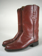 LUCCHESE Hand Made WESTERN Roper BROWN Leather BOOTS Women's Size 6 B Vintage?