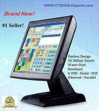 """New! FAST QUAD Corel! Restaurant Retail POS All in One Touch Screen System 15"""""""
