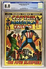 Captain America & The Falcon 148 cgc 8.0 1972 Red Skull, Nick Fury 20 Cents